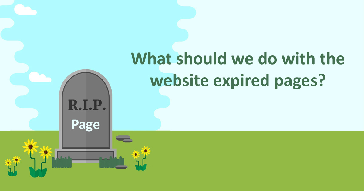 What should we do with the website expired pages?