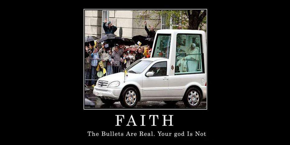 Faith: The bullets are real.