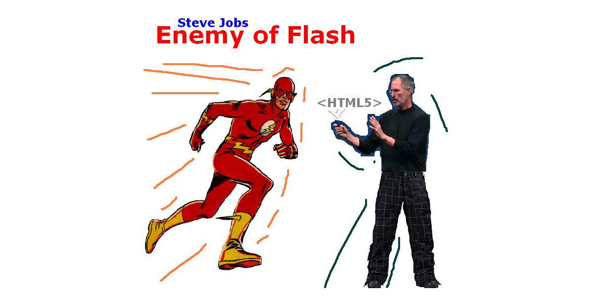 Steve Jobs - Enemy of Flash #HTML5