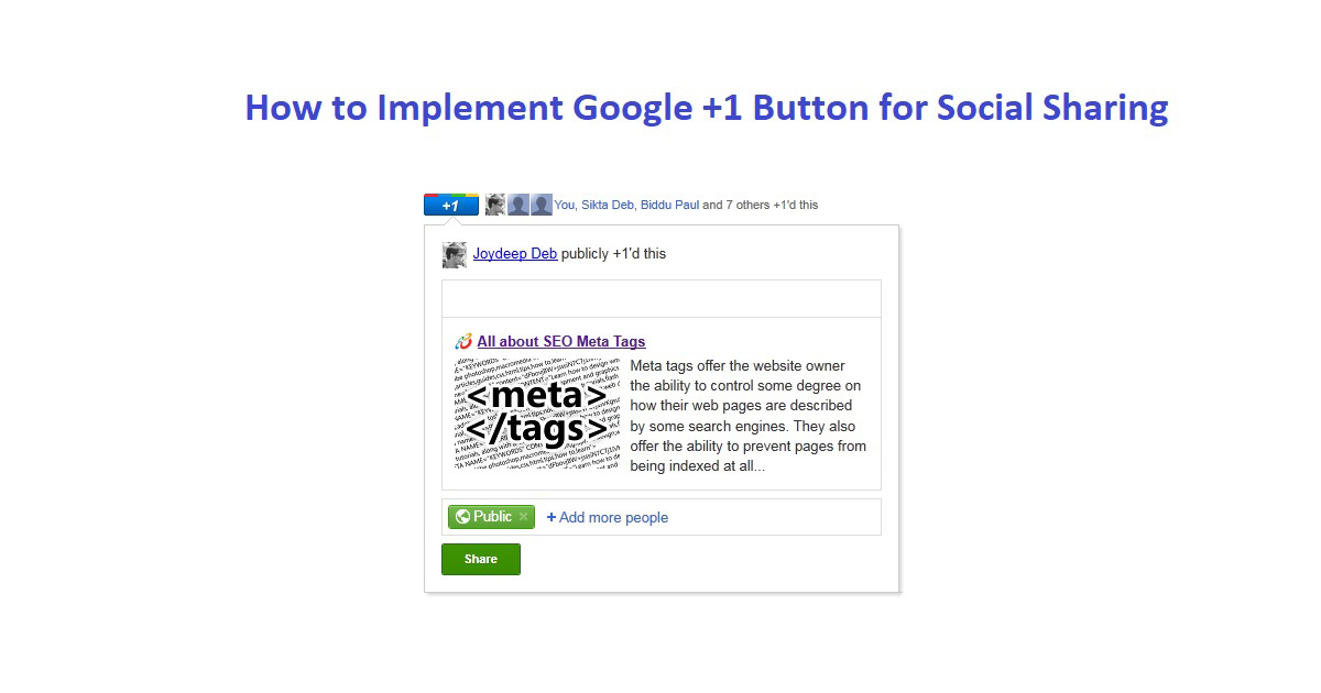 how to add google plus share button