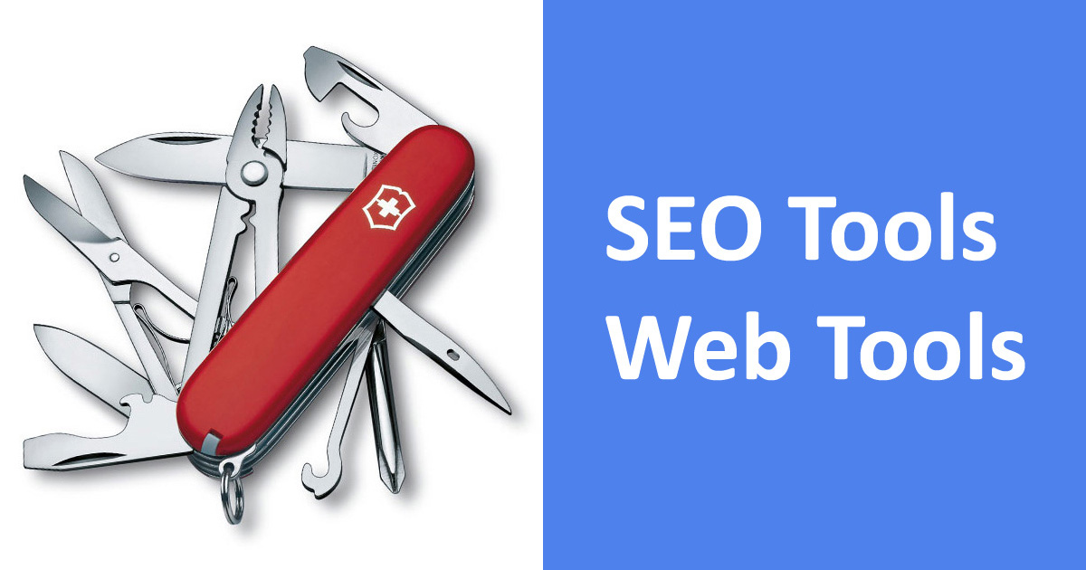 SEO Online Tools, Web Tools