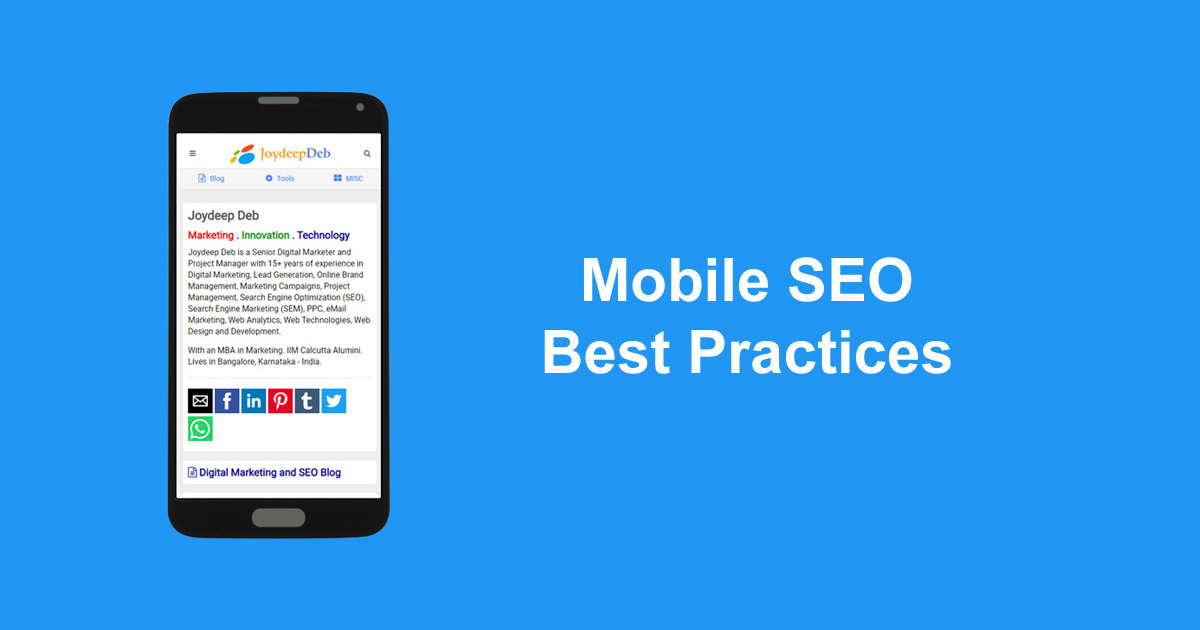 Mobile SEO Best Practices