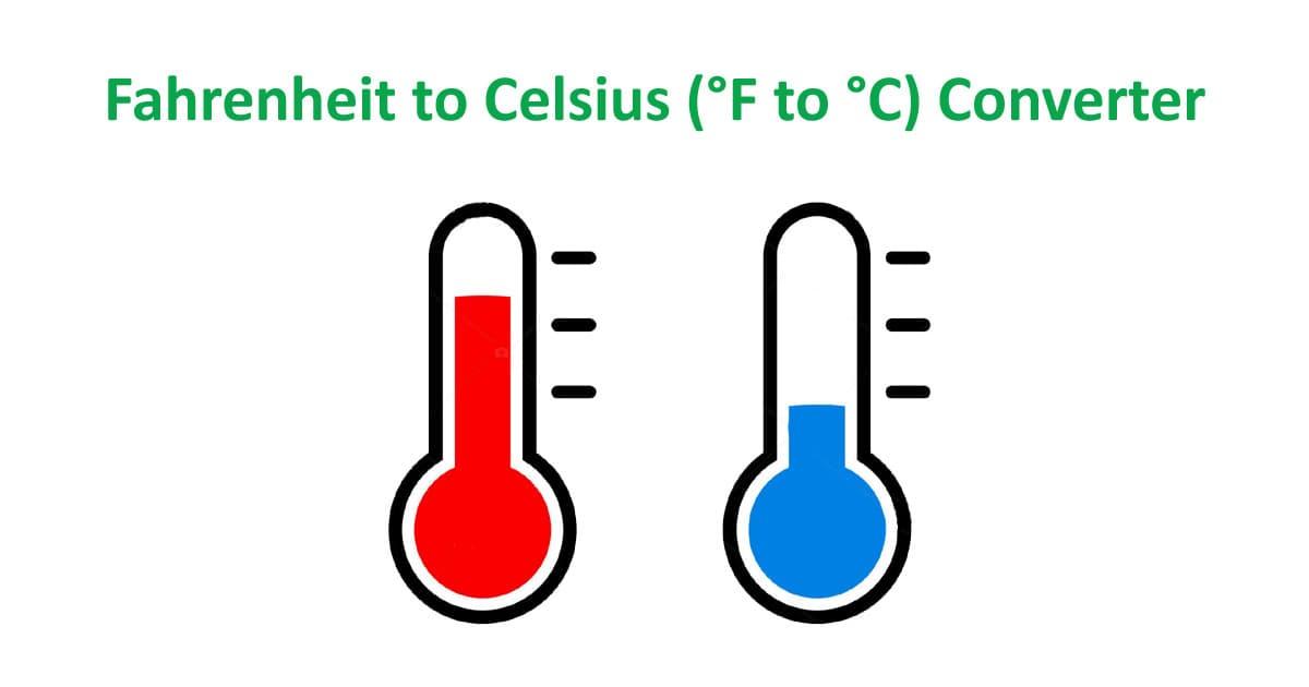 Fahrenheit to Celsius (°F to °C) Converter