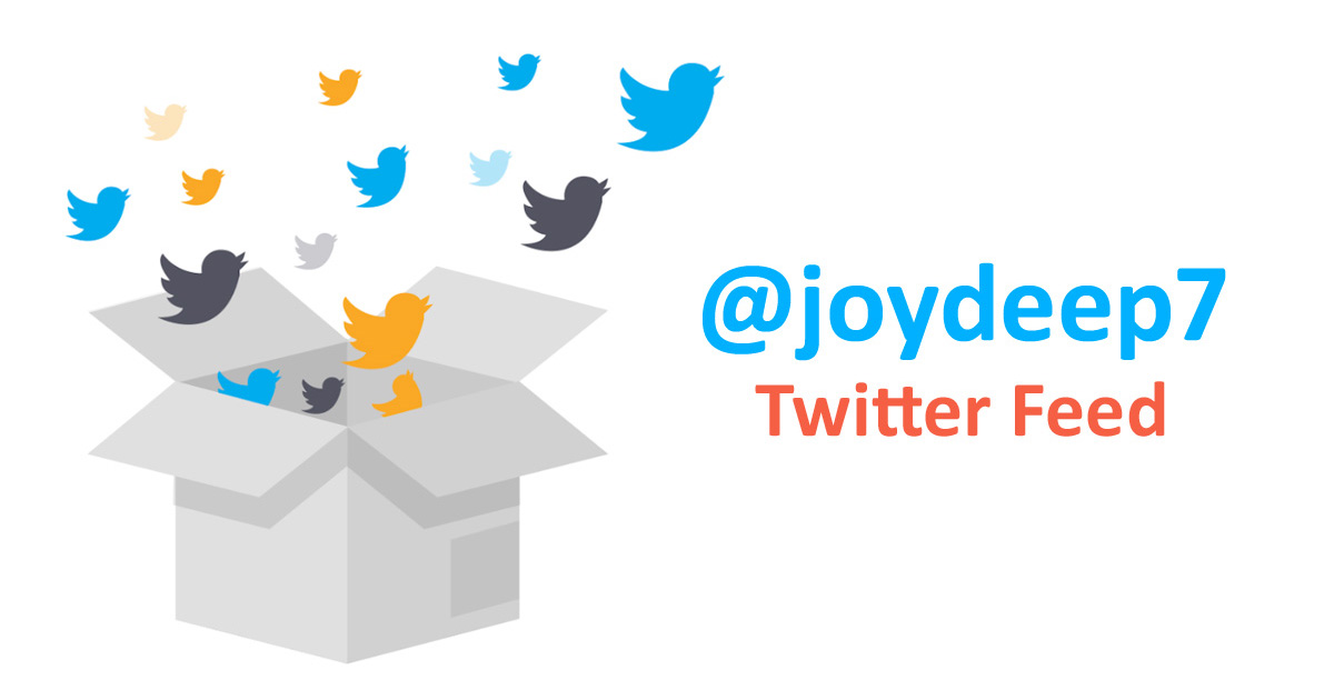 Twitter Feed - @joydeep7